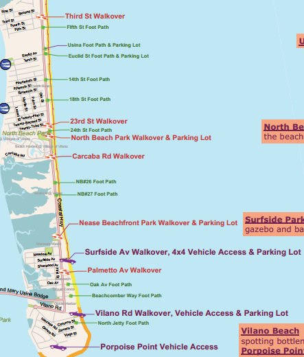 Map St Augustine Florida.Beaches Locals Guide St Augustine