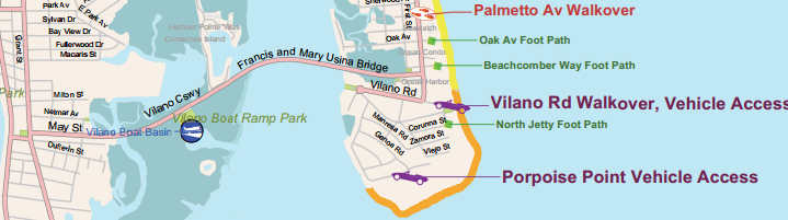 Vilano Beach Vehicle access
