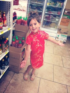 Bella Salyer Wearing her Chinese Dress.